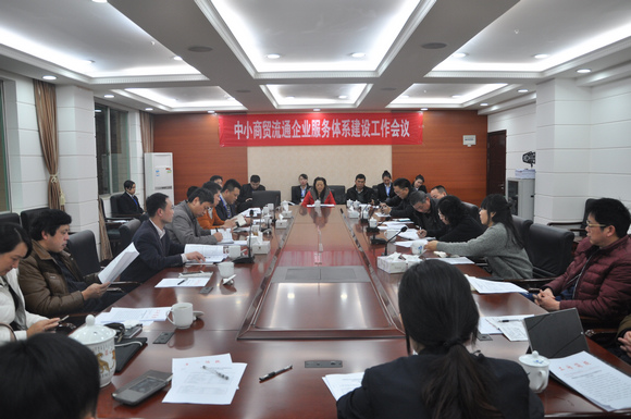 SME in circulation service system construction work meeting was held